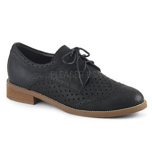 Shoes - Dapper Lace Up Wingtip Oxford Shoes Pin Up Swing